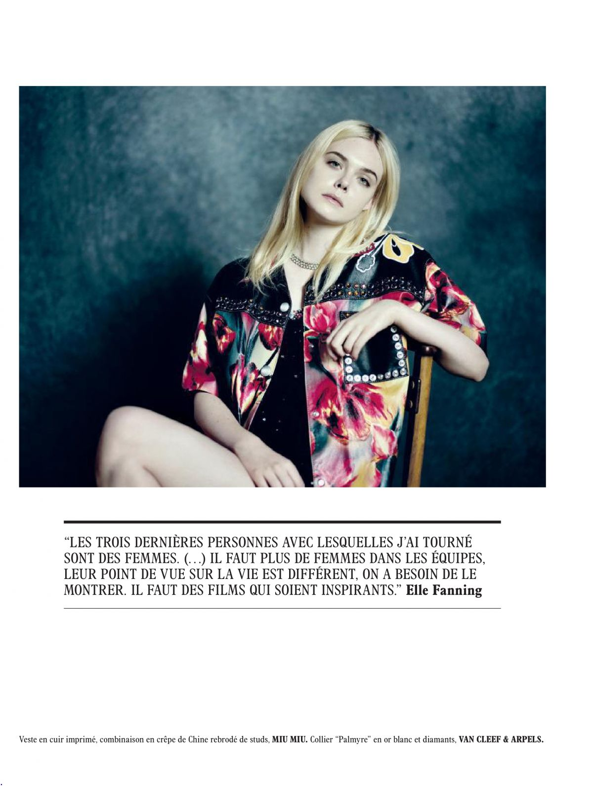 Elle Fanning Photoshoot for L'Officiel Paris, December/January 2017-2018