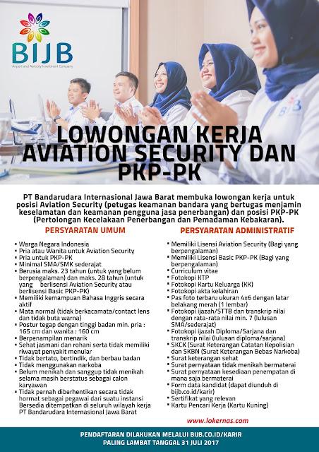 Lowongan Kerja PT Bandarudara Internasional Jawa Barat minimal SMA Sederjat
