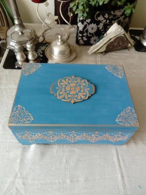 Inspiracje ze świata sztuki – nieco orientalna szkatuła na biżuterię ;)