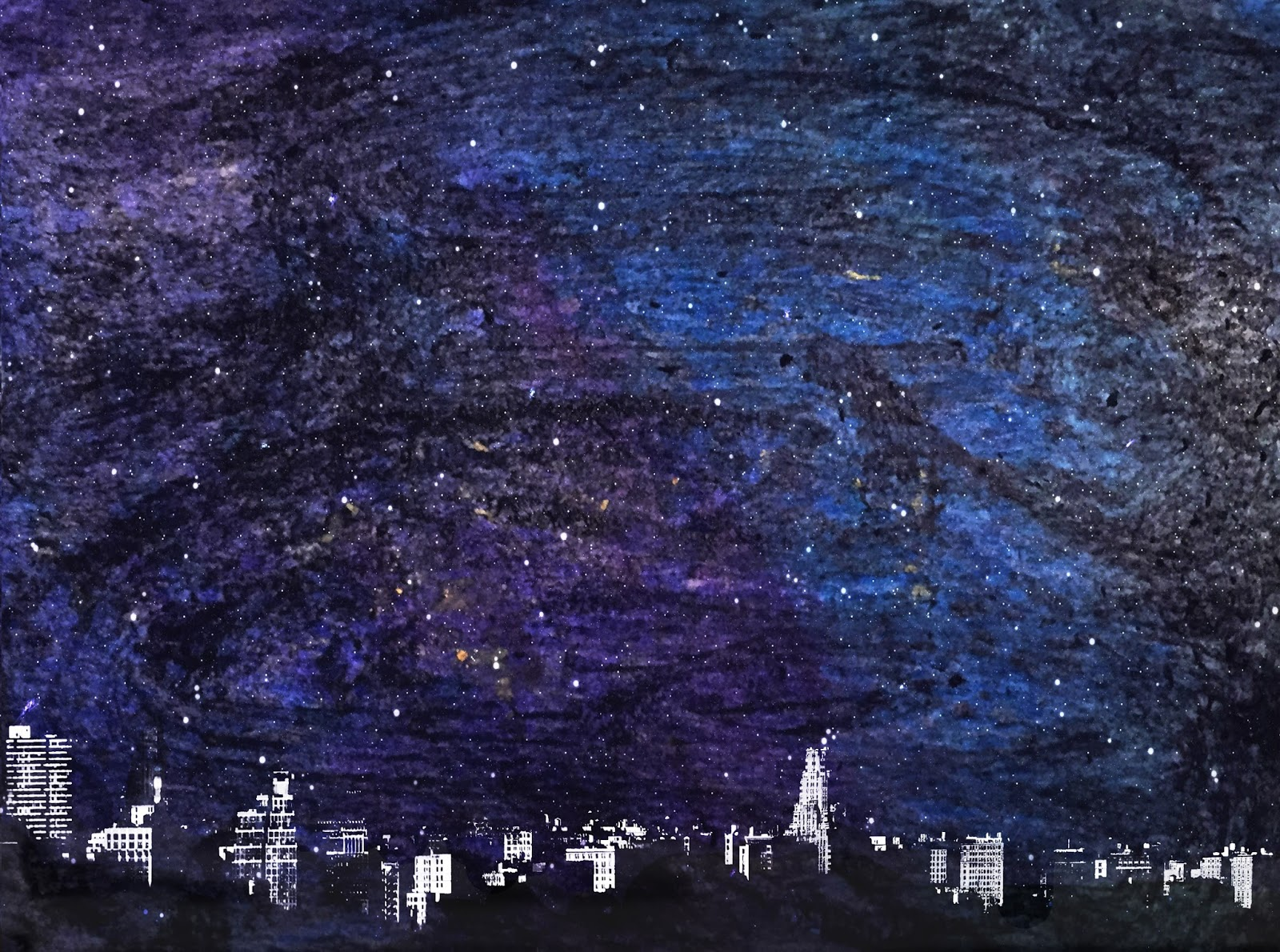 Easy Night Sky Drawing Pencil Www Picturesboss Com