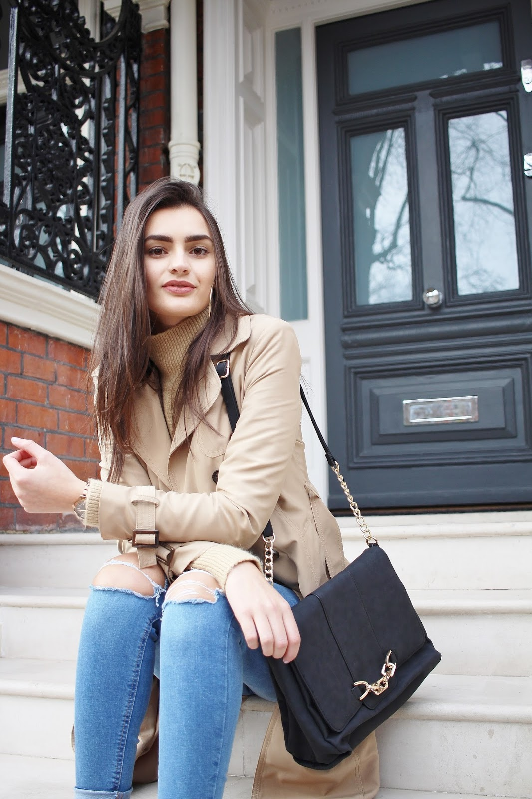peexo london street style blogger trench coat