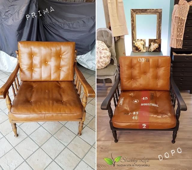 prima e dopo stile industrial