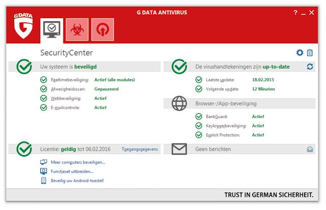 تحميل برنامج مكافحة الفيروسات G DATA Antivirus