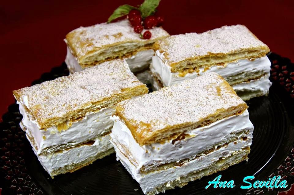 Milhojas de menrengue expres Ana Sevilla cocina tradicional