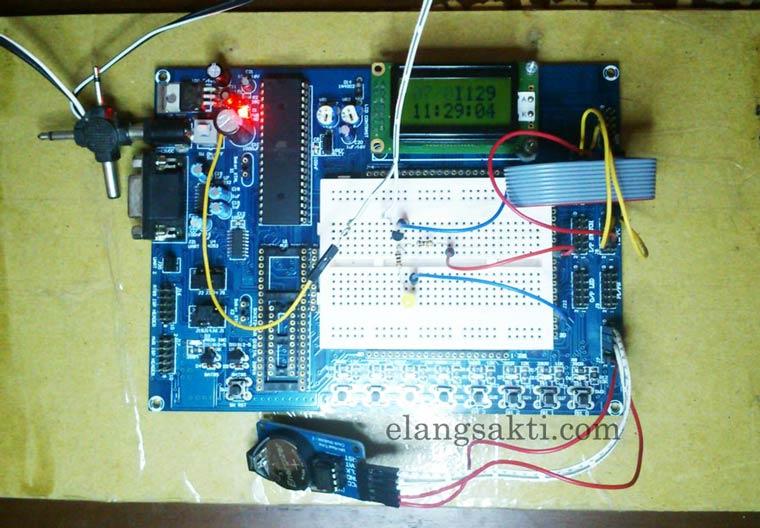 Membuat timer digital untuk lampu otomatis elang sakti