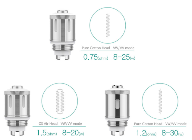 Three Types Of Atomizer Head  For Your Option