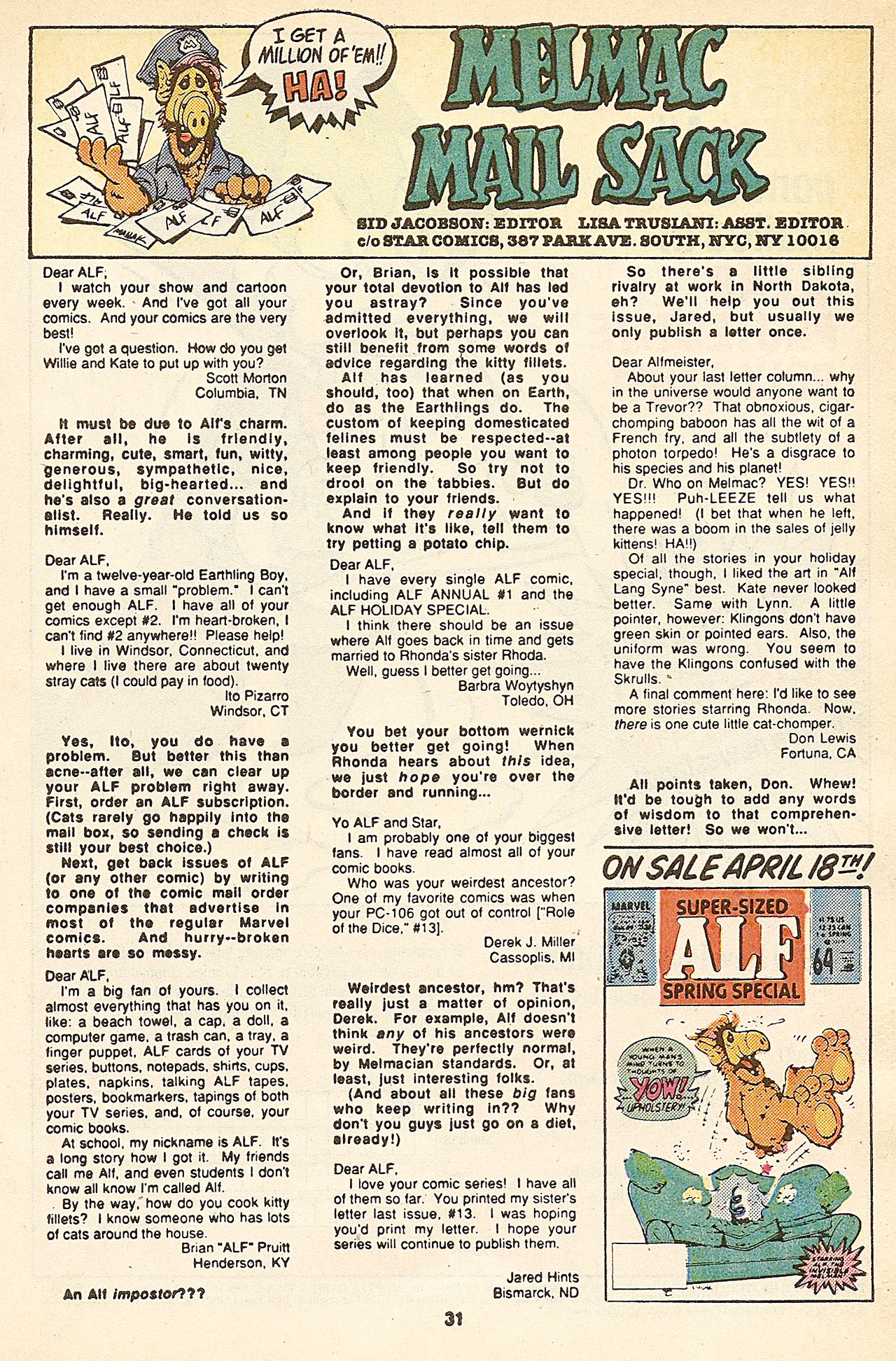 Read online ALF comic -  Issue #17 - 33