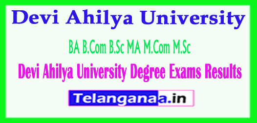 Devi Ahilya University Degree Exams Results