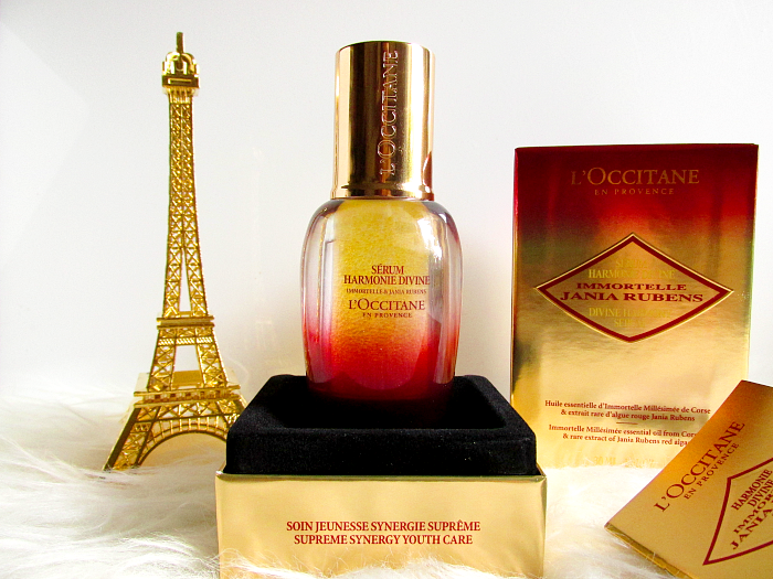 Review: L`OCCITANE Harmonie Divine Serum Immortelle & Jania Rubens Preis / price 181.- Euro