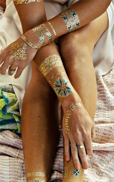 25 Breathtaking Gold Tattoo For Women