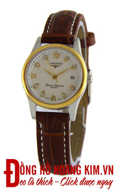 Đồng hồ đeo tay nữ Longines dây da giá rẻ dưới 1 triệu tại Hà Nội