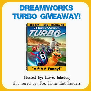 Enter to win DreamWorks Turbo on Blu-Ray DVD. Ends 11/22.