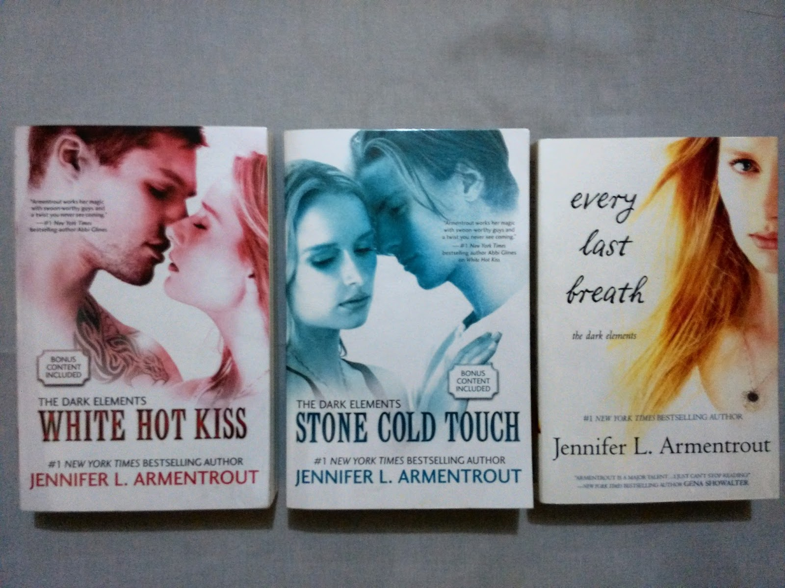 Stone Cold Touch (The Dark Elements #2) · Every Last Breath (The Dark  Elements #3) by Jennifer L. Armentrout