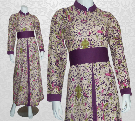 Batik Semarang Memilih Model Gamis Batik Kombinasi Untuk Orang Gemuk