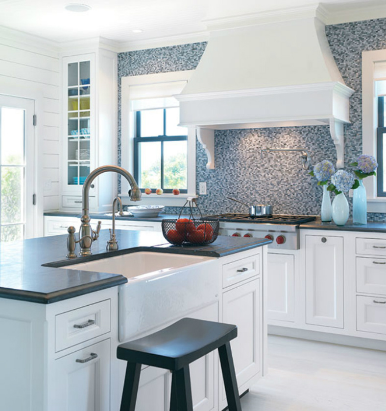 Vintage Beach Cottage Kitchens Designs With Blue Color: Coastal Home: Spotted From The Crow's Nest:Beach House
