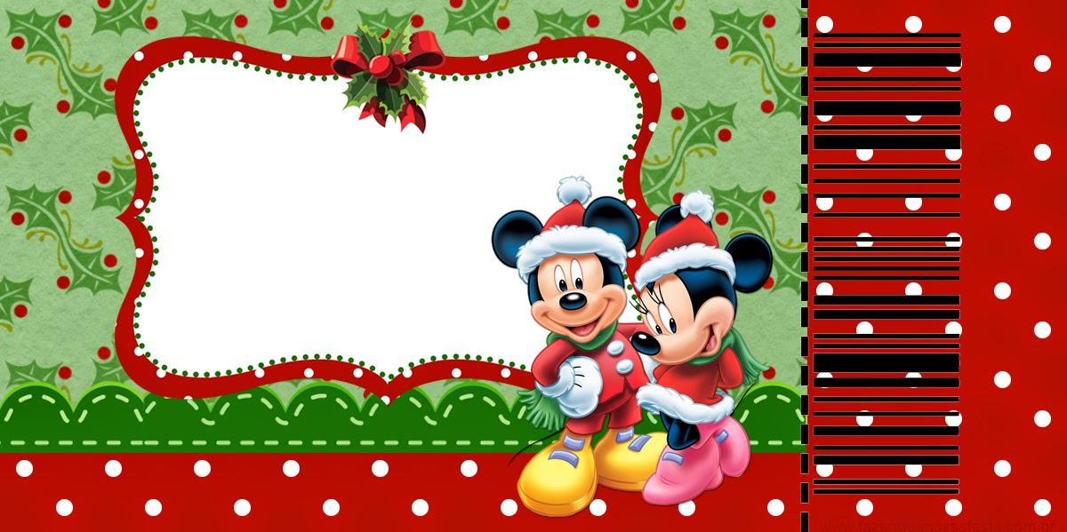 Minnie y Mickey Especial Navidad: Invitaciones para Imprimir Gratis ...