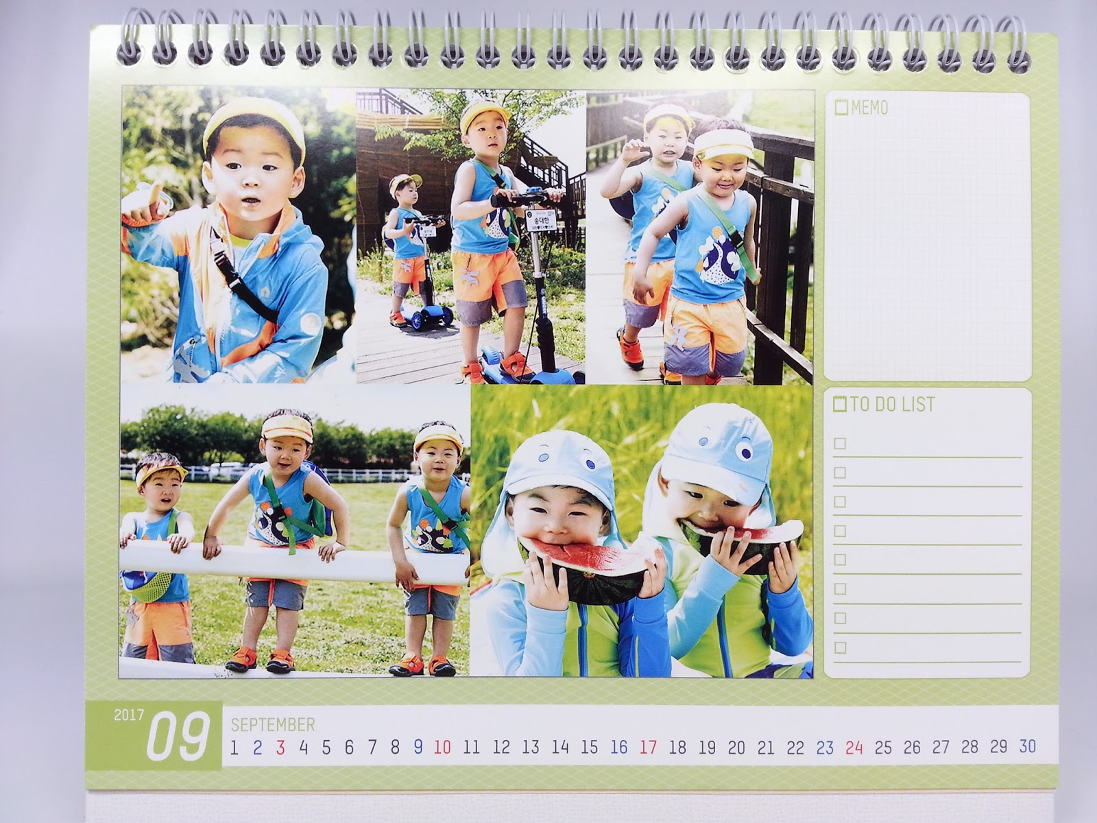 Triplets (Il Kook Song's Three Sons) , Calendar *** Superman