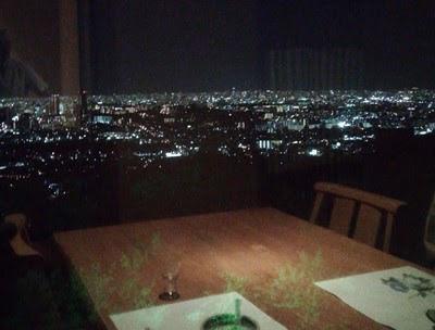 みのお山荘風の杜の口コミ  夕食時の景色
