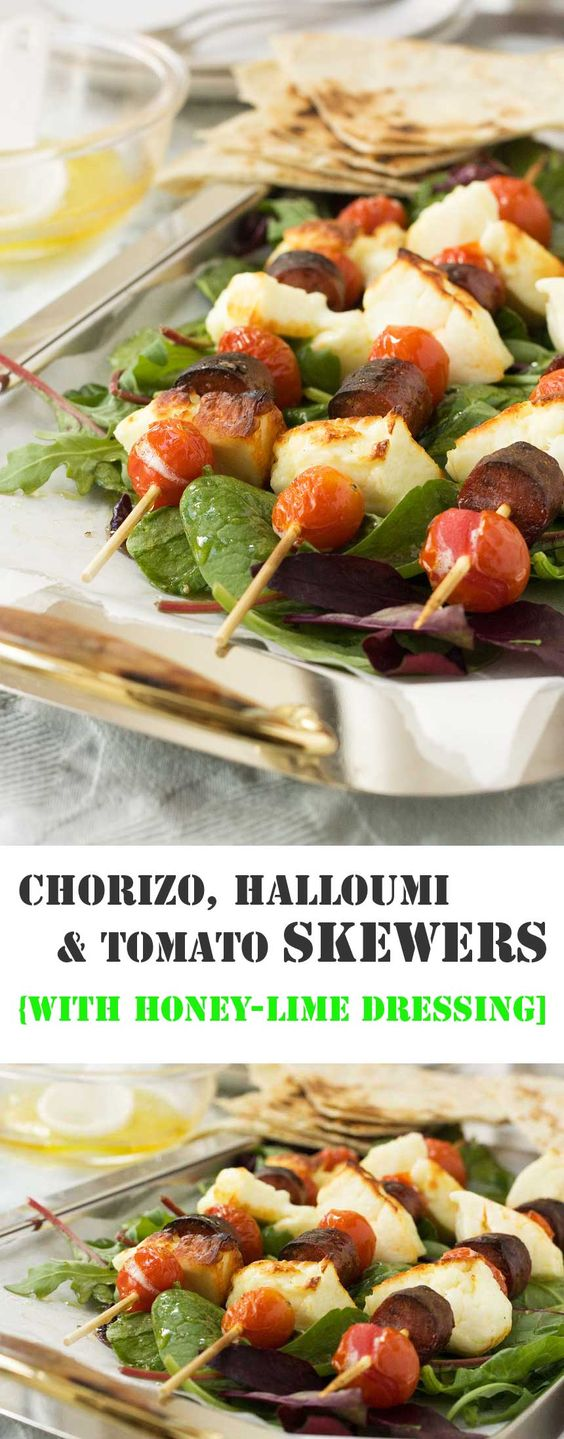 Halloumi lover or halloumi hater? That is the question today! If you don't already know where you stand on this very important issue, then have a go at these tasty halloumi skewers to find out. Even if you don't like the halloumi, I'm pretty sure you'll find something to love here!