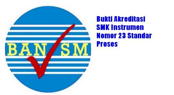 Bukti Akreditasi SMK Instrumen Nomor 23 Standar Proses