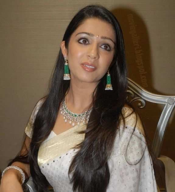 Charmi White Saree Photos