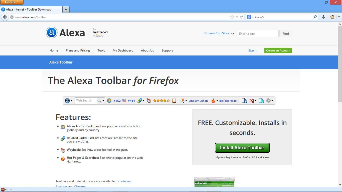 Cara Memasang Alexa Toolbar di Firefox gambar 1