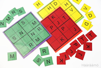 Vokaali-, konsonantti-, numero- ja muotosudoku (pdf)