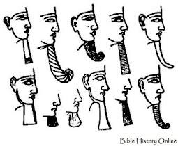 Ilustração do cavanhaque (pêra) usada pelos faraós egípcios.