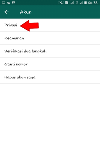 Pilih Privasi Whatsapp