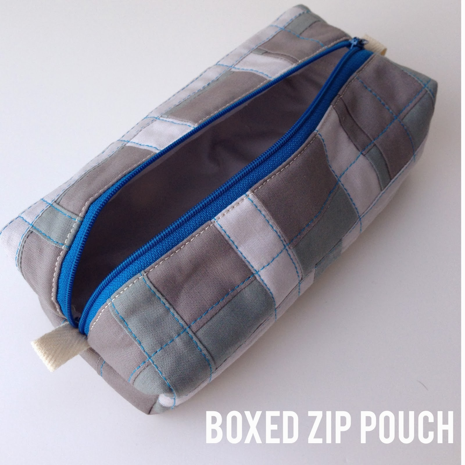 Boxed Zip Pouch Tutorial by Nizhoni Workshop