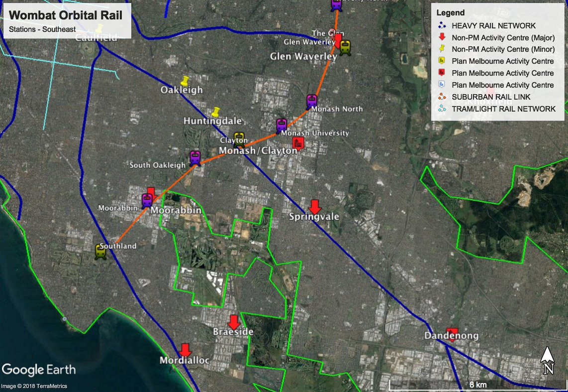 The Bloodied Wombat: Melbourne Suburban Orbital Rail - Mapping the ...