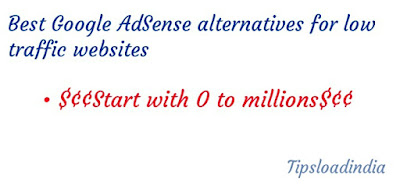 Google AdSense alternative, Google AdSense alternatives for low traffic website