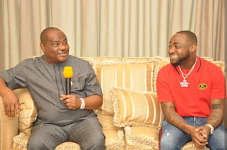 Davido visits Rivers state Governor, Nyesom Wike