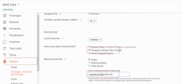 Tidak Mendapat Notifikasi Komentar Blogger Melalui Email