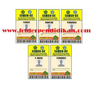 Contoh Kartu UAMBN-BK PROTEK, Pengawas, dan Penanggung Jawab