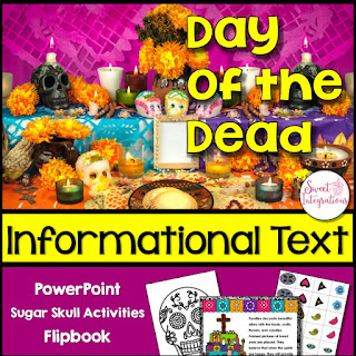 Click here to go to the Day of the Dead Informational Text resource in Sweet Integrations TpT store. Great for your 3rd, 4th, 5th, and 6th grade upper elementary or middle school students.