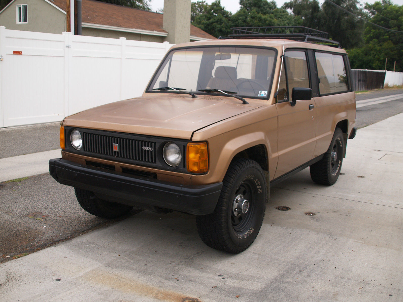 1986 isuzu trooper dlx turbo diesel 4x4 2