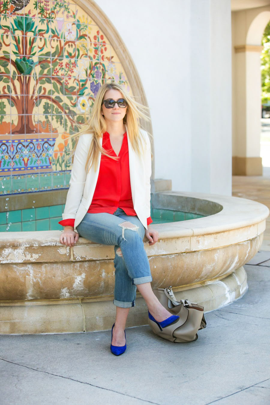Memorial Day Outfit Ideas | What I Wore to Work/Meetings to be Patriotic | Red, White, + Blue Outfits | Luci's Morsels :: LA Women's Fashion Blog