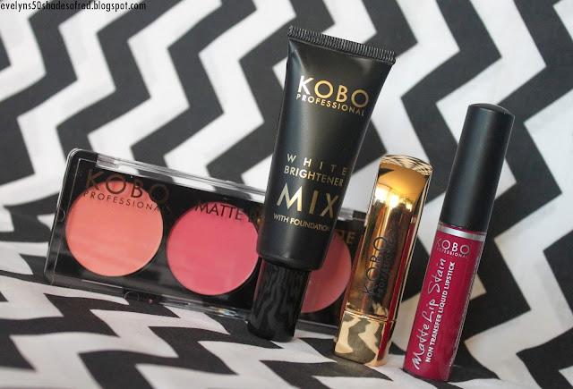 Kobo Professional Matte Blush Palette Matte Lips Matte Lip Stain White Brightener Mix