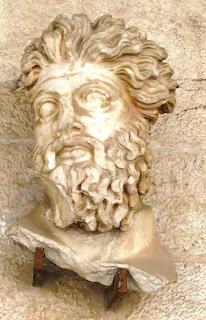 κεφαλή του Τρίτωνα στο Μουσείο της Αρχαίας Αγοράς των Αθηνών