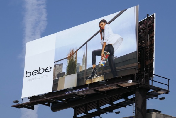 Bebe handbag collection Fall 2018 billboard