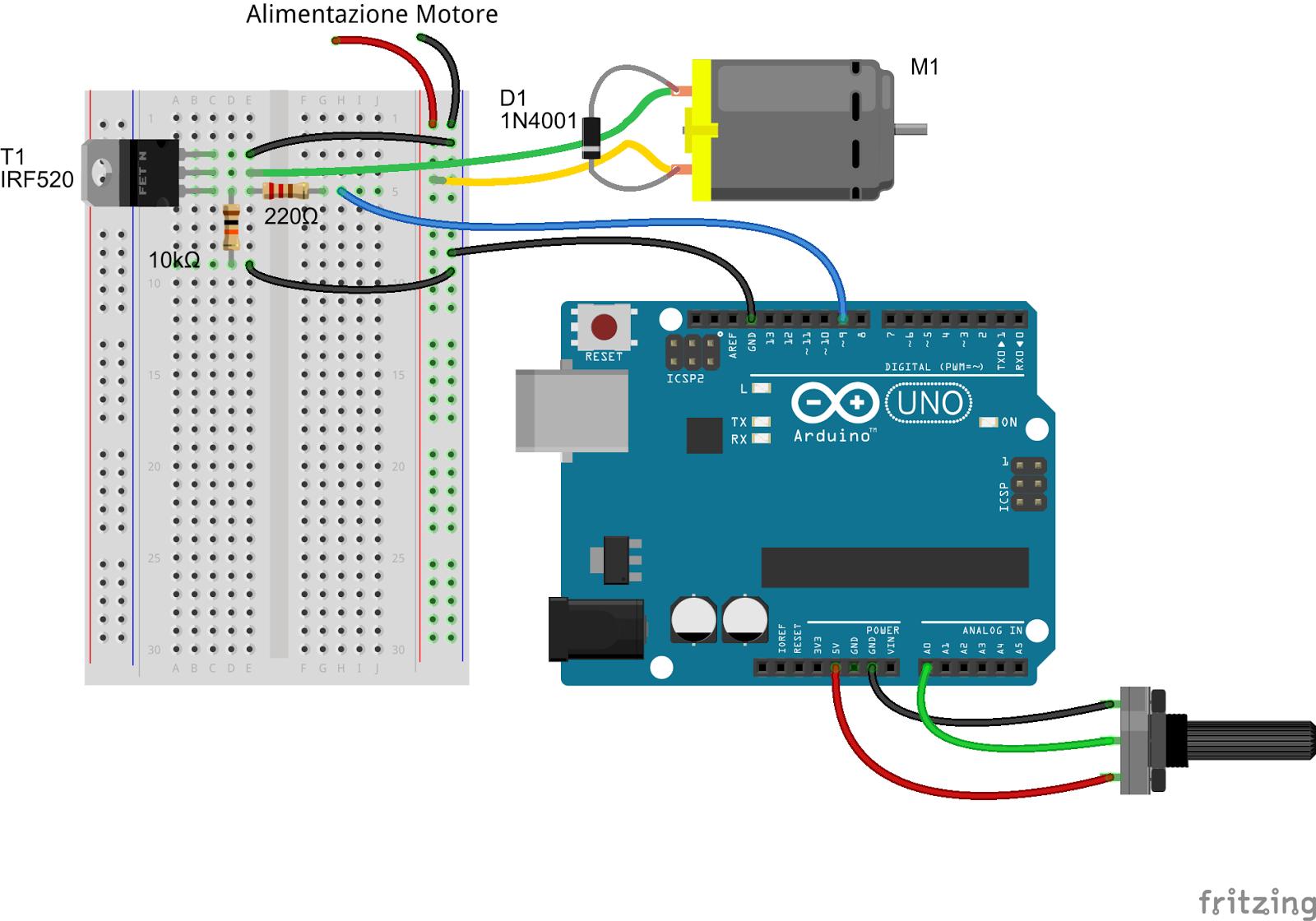Daniele Alberti, Arduino 's blog: I Mosfet e Arduino, come