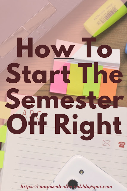 Have a successful semester in college