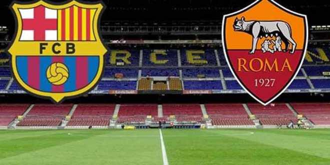 مباراة برشلونة وروما