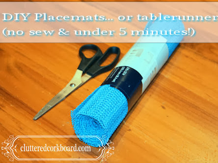 DIY No Sew Placemats in under 5 minutes...