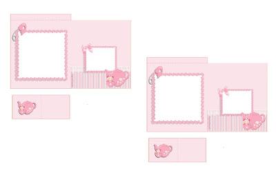 Bolsita de Té para imprimir gratis de Bebé Niña en Rosa.