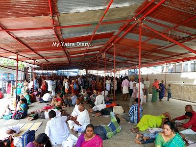 Pilgrim crowd at Tirupati Balaji Temple, Andhra Pradesh