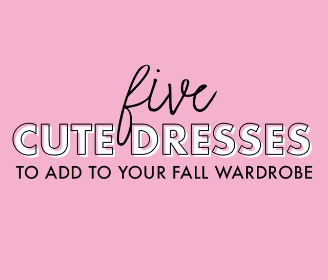 cute dresses for fall