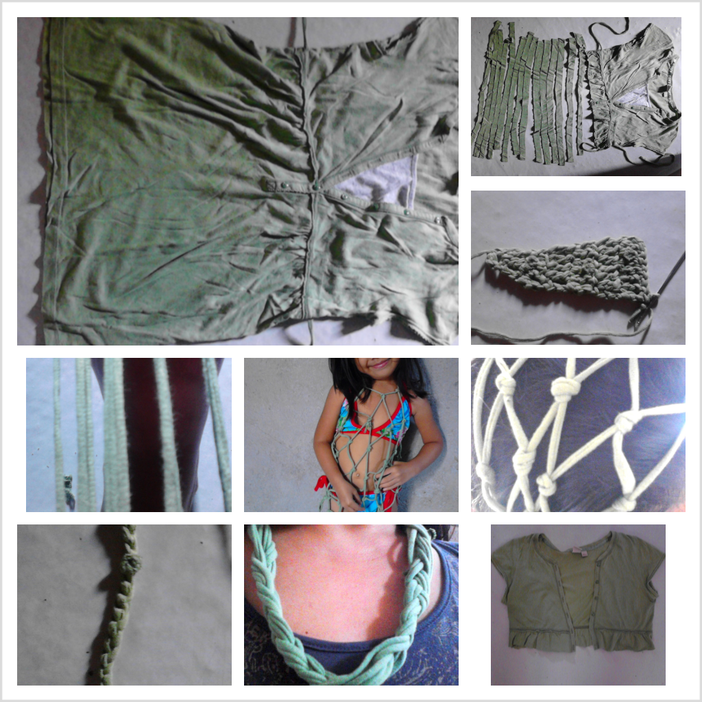 different ways to upcycle,recycle and reinvent t-shiry