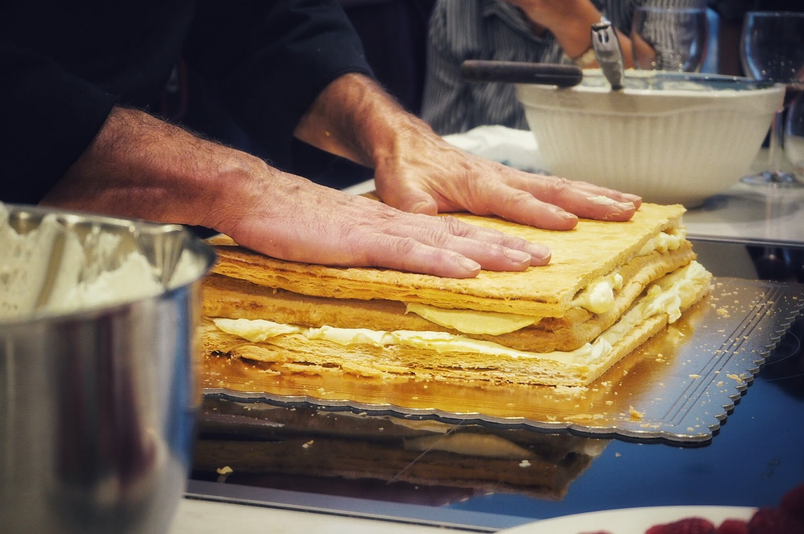 Italian Wedding cake pastry and cream layers